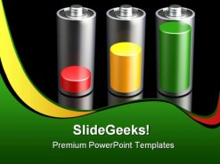 Battery Levels Science PowerPoint Backgrounds And Templates 1210