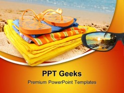 Beach Fun Holidays PowerPoint Templates And PowerPoint Backgrounds 0411