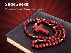 Bible Rosary Religion PowerPoint Template 0610