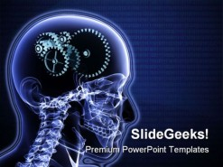 Brain Gears Science PowerPoint Template 0610