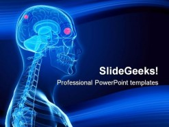 Brain Tumor Science PowerPoint Template 0610
