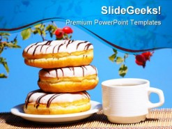 Break Fast Food PowerPoint Template 0810