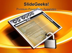 Browsing Security Internet PowerPoint Backgrounds And Templates 1210