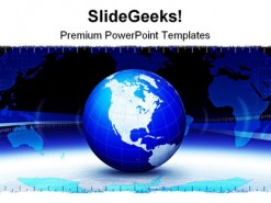 Business Banner Globe PowerPoint Background And Template 1210