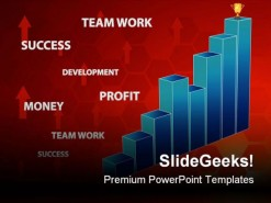 Business Chart Success PowerPoint Background And Template 1210