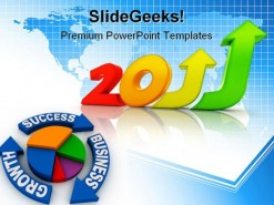 Business Growth 2011 Success PowerPoint Backgrounds And Templates 1210