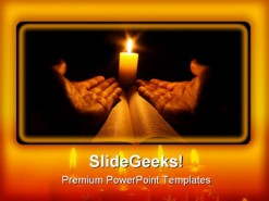 Candle Bible Religion PowerPoint Template 0610