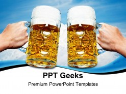 Celebrate Beers Festival PowerPoint Templates And PowerPoint Backgrounds 0411