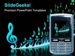 Cell Phone Music PowerPoint Template 0610