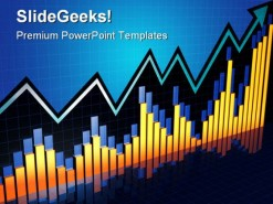 Chart Growth Business PowerPoint Template 0910