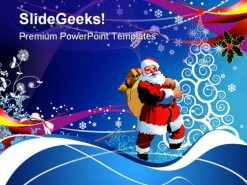 Christmas And Santa Holidays PowerPoint Template 1110
