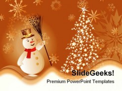 Christmas Background Beauty PowerPoint Template 1010