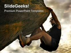 Climber Success PowerPoint Template 0610