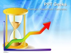 Clock Face And Graph Business PowerPoint Templates And PowerPoint Backgrounds 0411
