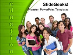 Collage Students Education PowerPoint Template 0610
