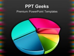 Colorful Pie Chart Business PowerPoint Templates And PowerPoint Backgrounds 0411