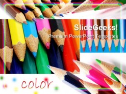 Colors Pencils01 Education PowerPoint Template 0910
