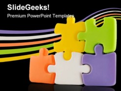 Colors Puzzles Shapes PowerPoint Template 1110