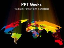 Coloured World Globe PowerPoint Templates And PowerPoint Backgrounds 0411