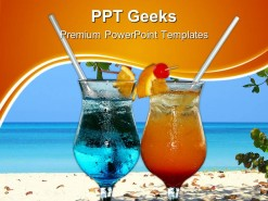 Colourful Cocktails Food PowerPoint Templates And PowerPoint Backgrounds 0411