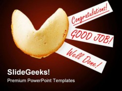 Congratulation Cookies Business PowerPoint Backgrounds And Templates 1210