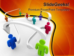 Connected People In Network Business PowerPoint Backgrounds And Templates 1210
