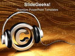 Copyright Protected Music PowerPoint Template 1110
