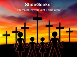 Cross02 Family Religion PowerPoint Template 0610