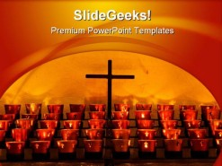 Cross Religion PowerPoint Template 0810