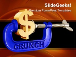Crunch Money PowerPoint Template 0610