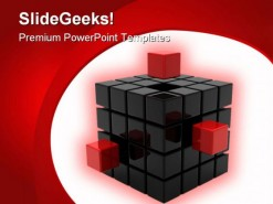 Cube Symbol PowerPoint Template 0810