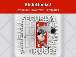 Cyber Crime Security PowerPoint Template 0810