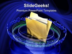 Digital Files Security PowerPoint Template 1110