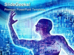 Digitalized People Technology PowerPoint Backgrounds And Templates 1210