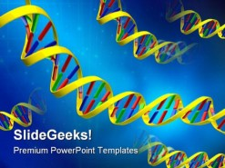 Dna Science PowerPoint Template 0610