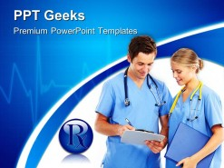 Doctors Disscuss Reports Medical PowerPoint Templates And PowerPoint Backgrounds 0411