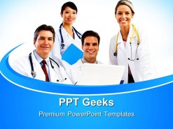 Doctors Team01 Medical PowerPoint Templates And PowerPoint Backgrounds 0411