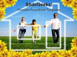 Dream Home Family People PowerPoint Template 0810