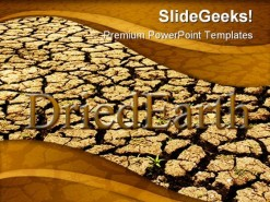 Dried Earth Nature PowerPoint Template 0910