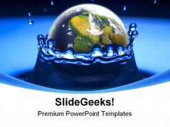 Drop Earth PowerPoint Backgrounds And Templates 1210