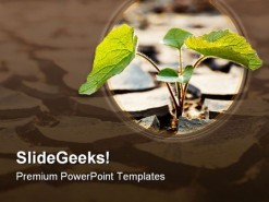 Drought Plant Nature PowerPoint Template 0810