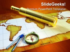 Explorer Tools Globe PowerPoint Template 0610
