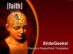 Faith People PowerPoint Template 0610