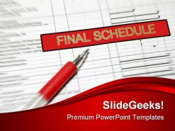 Final Schedule Business PowerPoint Background And Template 1210