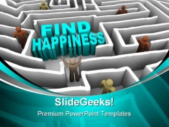 Find Happiness People PowerPoint Backgrounds And Templates 1210