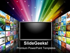 Flat Screen Television Future PowerPoint Template 1110