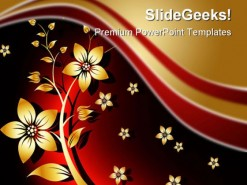Floral Beauty Abstract PowerPoint Template 0810