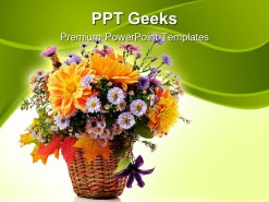 Flowers Bouquet Beauty PowerPoint Templates And PowerPoint Backgrounds 0411