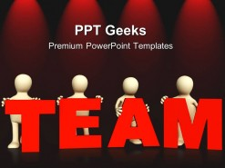 Four Persons Team Business PowerPoint Templates And PowerPoint Backgrounds 0411