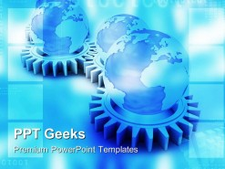 Gears And Globe Concept Industrial PowerPoint Templates And PowerPoint Backgrounds 0411